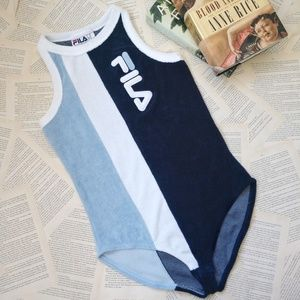 NWOT FILA Dahlia Colorblock Terry Cloth Bodysuit
